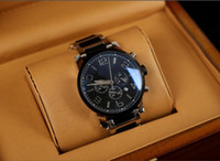Wholesale Brand Name Box - Original Wood Box Name branded men Quartz watches steel band Business designer Luxury wristwatch