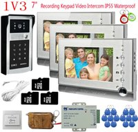 Wholesale video intercom rfid resale online - 8GB SD Card Recording Door Intercom Units quot Color Monitor Rfid Keyboard Wired Video Doorbell Video Door Phone Remote Control