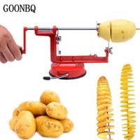 Wholesale Sweet Machines - Goonbq 1 Pc Rotate Potato Machine Stainless Steel Sweet Potatoes Twisted Tornado Slicer Kitchen Hand Rotate Spiral Tool