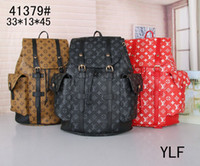 Wholesale rivets for handbags resale online - Hot Sell Classic Fashion bags brand designer Women Men Backpack Style Bag Unisex Shoulder Handbags Travel hiking bag colors for pick