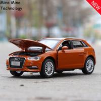 ücretsiz oyuncak diecast otomobiller toptan satış-Çift Atlar 1:32 ücretsiz kargo Audi A3 Alaşım Diecast Araç Modeli Geri Çekin Oyuncak Elektronik Araba klasik çocuk Çocuk Oyuncakları