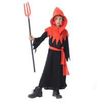 Wholesale children s fancy clothing for sale - Halloween Boys Girls Scary Bloody Red Devil Clothing Jumpsuits Sets Children Fancy Cosplay Costume Kids Clothes