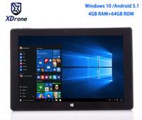 china dual intel achat en gros de-Chine Windows 10 Édition Familiale Tablet PC 10.1 Dual OS Android Intel Quad Core Z8350 4 Go de RAM 64 Go de ROM 10.1