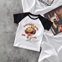 Wholesale kids boy girl style clothing - Tops Cotton Summer Black super baby nipple boys girls T Shirt New Style cartoon Clothes Kids casual fashion Letters Shirt