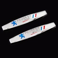 ingrosso emblema degli autoadesivi peugeot-3D Francia Bandiera nazionale Badge Lega di metallo Parafango Trunk Tail Emblem Sticker Car Styling per Peugeot Sport 307 206 408 508 406 3008