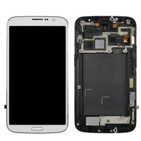 Wholesale full lcd screen phone resale online - For Samsung Galaxy Mega I9200 I9205 I527 LCD Digtizer Touch Panels Display With Frame Full Screen Assembly Original Cell phone Parts