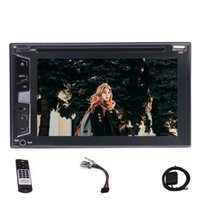 Wholesale video caps - 6.2'' Double 2Din Autoradio Stereo Car DVD CD Player Cap DVD CD MP3 MP4 USB FM RDS Bluetooth Five Touch Capacitive Screen