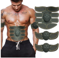 пульсирующий массажёр оптовых-New Smart Electric Pulse Treatment Massager Abdominal Muscle Trainer Wireless Sports Muscle Fitness 8 Packs Body Massager