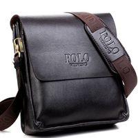 maletines de negocios para hombres al por mayor-Hombres bolsas de mensajero Bolsas Crossbody Cuero de la PU de los hombres de hombro Marca de Calidad para los hombres de negocios bolsos carteras HT007