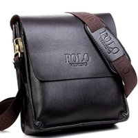 Wholesale men polo messenger for sale - Group buy Men Polo Messenger Bags Pu Leather Men s Crossbody Bags Brand Quality Shoulder For Men Handbags Business Briefcases HT007