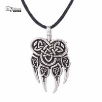 wolf choker großhandel-Meine Form Viking Wolf Anhänger Halsketten Anhänger Männer Nordic Runen Viking Choker Bear Charm Aussage Halskette Frauen
