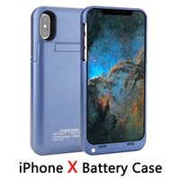 "Wholesale Iphone External Battery Cover - For iphone X External Battery Backup Power Bank Charger Cover Case Powerbank case for iPhone 7 8 Plus 4.7"" 5.5"" inch."