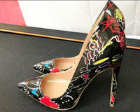 28573c2213f 2018 New HOT Brand dress Shoes Woman pointed toe red bottom Pumps 8cm 10cm  12CM High Heels Wedding Shoes size 35-44 high 8cm 10cm 12cm