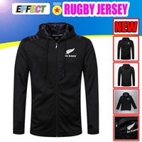 Wholesale new zealand clothing for sale - Best Quality All Blacks Black Hoodies New Zealand Super Rugby Jerseys Mens All Blacks jersey clothes ALL BLACK Jacket S xl