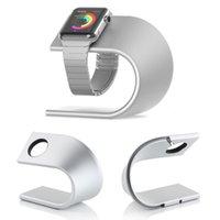 apfel wiege ladung großhandel-Mode U-Form Ladestation Station Desk Cradle Halter für Apple Uhr 1/2 42mm 38mm Metall Aluminiumlegierung Stand
