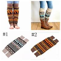 Wholesale legs warmers for sale - Christmas Leg Warmer Women Boot Socks Camouflage Bohemia Thick Wool Piles Stockings Foot Cover Socks Knee Protector Socks MMA1034