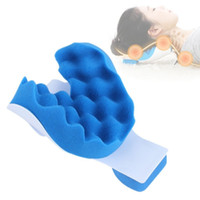 Wholesale head correction - 2018 Fitness Massage Head and Neck Tension Release Pillow Anti Stress Headaches Pain Relief Correction Cervical Posture MP500