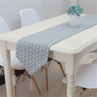 Wholesale Modern Table Runners - Table Runner Geometry Gray Cotton Linen Modern Simple Tea Tables Gabe Home Furnishing Fabric Art Bed Flag 23qc4 V