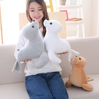 Wholesale lion stuff toy for sale - Group buy 35cm Cute Stuffed Sea Lion Plush Toy Soft Pillow Kawaii Cartoon Animal Seal Toy Doll for Kids Lovely Children s Gift LA101
