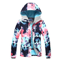 одежда для снега оптовых-GSOU SNOW  Ski Jacket Women Snowboard Jackets Female Waterproof Coat Cheap Skiing Suit Ladies Winter Outdoor Sport Clothing