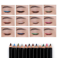 componen lápiz de pluma al por mayor-12 Colores / set Eye Make Up Eyeliner Lápiz Menow Waterproof Lip Stick Beauty Pen Eye Liner Cosméticos Ojos Maquillaje Cosmético