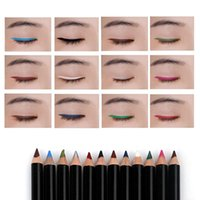 Wholesale 12 eyeliner pen set for sale - Group buy 12 Colors set Eye Make Up Eyeliner Pencil Menow Waterproof Lip Stick Beauty Pen Eye Liner Cosmetics Eyes Makeup Cosmetic