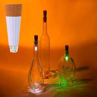 ingrosso bottiglia usb forma-2018 hot USB ricaricabile Cork Shape bottiglia luce durevole Lampada LED Cork luci vino Cork USB Light per la festa di natale deco