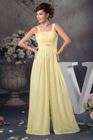 Wholesale chiffon jumpsuits suits for sale – dress Spaghetti Strap Chiffon Long Bridesmaid Dresses Jumpsuits Ruched Floor Length Formal Wedding Guest Maid Of Honor Suit WD4