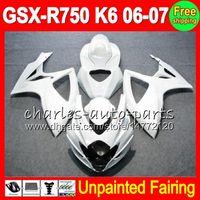 Wholesale k6 kit - 8Gifts Unpainted Full Fairing Kit For SUZUKI GSX-R750 06-07 GSXR750 GSXR 750 GSX R750 K6 06 07 2006 2007 2006-2007 Fairings Bodywork Body