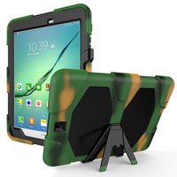 Wholesale heavy duty tablet cover for sale - Group buy Heavy Duty Silicone Case Hybrid Cover with Kickstand for Samsung Galaxy Tab S2 T710 T713 T715 T719 Tablet