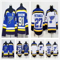 ingrosso youth hockey jersey-2018 New St. Louis Blues Jerseys # 27 Alex Pietrangelo 91 Vladimir Tarasenko Hockey Uomo Donna Bambini Youth Blu Bianco Jersey