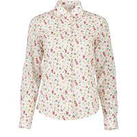 8298e01d77e78c Plus Größen Vintage Blusen Shirt Frauen 2018 New Herbst Baumwolle  Blumendruck Elegant Heißer Verkauf Casual Weiß Schöne Büro Damen Tops