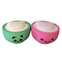 Wholesale phone rice for sale - Group buy Squishy rice squishies Slow Rising Soft Squeeze Cute Cell Phone Strap gift Stress children toys Decompression Toy