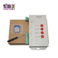 rgb led ws2812b venda por atacado-Cartão SD WS000 WS2811 T1000S WS2811 WS2812B LPD6803 LED 2048 Controlador de Pixels DC5 ~ 24 V T-1000S Controlador RGB
