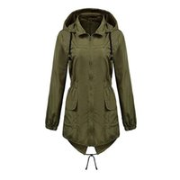 Wholesale Waterproof Coats Plus Size Women - New Waterproof Hoodied- Women's Waterproof Lightweight Rain Jacke Plus Size Hood Outwear Quick Dry Coat for Winter