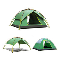 Wholesale used aluminium for sale - 2 people Automatic Three used Aluminium Rod Tent Portable Rainproof Tent Double Layers Outdoor Camping Hiking