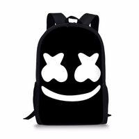 a624b69c1d39 16-inch Bag School Marshmello rugzak School Bags Boys Girls Backpacks  Supplies Schoolbag Satchel Kids Bagpack Mask DJ