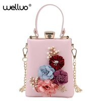 Wholesale wedding envelopes green - Wholesale- New Women Black Envelope Evening Clutch Bags Ladies Day Clutches Female Wedding Bag Colorful Flowers Party Ladies Evening XA53B