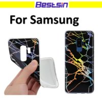 Wholesale soft plastic material - Bestsin Laser Under Light Shining Soft TPU Material Phone Case For Samsung S8 S9 PLUS Free DHL