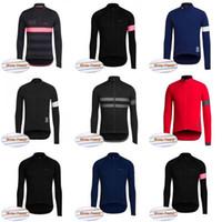 velo inverno ciclismo vestuário venda por atacado-Equipe Rapha ciclismo jersey top Jaqueta de inverno térmica velo desgaste da bicicleta maillot ciclismo bicicleta roupas frete grátis C2021