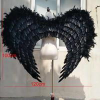 ingrosso ali libere di fata-L'alta qualità nera costumed delle ali di angelo delle cosplay del partito della fase mostra le esposizioni le ali di Fairy delle puntelli puntelli Trasporto libero di SME