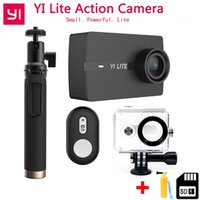 xiaomi geniş mercek toptan satış-Stokta Xiaoyi YI Lite Eylem Kamera Gerçek 4 K Spor Kamera Dahili WIFI ile 2 Inç LCD Ekran 150 Derece Geniş Açı Lens