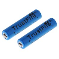 Wholesale 2pcs TrustFire V mAh Li ion Rechargeable Battery for LED Flashlights Headlamps with Cycle CHA_348
