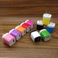 iphone5 drähte großhandel-Hohe qualität finger us-stecker usb ac power ladegerät 5 v 1A wand adapter für iphone für samsung für tabletten