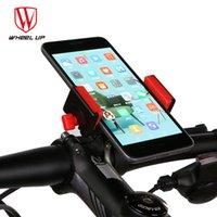 clips mtb al por mayor-RUEDA PARA ARRIBA Universal 3.0-6.5 pulgadas Soporte para Teléfono de Bicicleta GPS Marco de Navegación MTB Carretera Bicicleta Soporte para Teléfono Soporte de Clip de Manillar