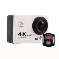 sportkamera 4k großhandel-Ultra Hd Action-Kamera 4K 4K 30fps 1080P Sport WiFi 2,0