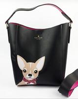 crossbody handtaschen mädchen großhandel-2018 frauen tasche designer niedlichen hund handtasche mädchen umhängetasche leder crossbody eimer tote