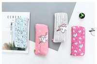 Wholesale stationery supplies for school children for sale - Group buy Cute Pencil Case Unicorn Canvas School Office Supplies Stationery Kawaii Unicorn Pencil Box Case Bag For Kids Children Gift