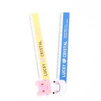 Wholesale rulers 15cm - 15cm Cute Kawaii Plastic Ruler Creative Cartoon Cat Panda Frog Ruler For Kids Gift School Supplies Students Gifts Awards