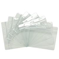 kartlı kimlik kartları toptan satış-20 Cs Su Geçirmez Kimlik Kartı Bant Kartları Sahipleri Saklama Torbaları Temizle Kollu Koruyucular Plastik Yumuşak Korumalı
